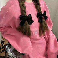 Headband Korean hair accessories Cute Mini velvet butterfly knot edge clip hairpin headdress