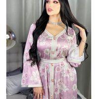 Robes décontractées Wepbel Floral Dentelle Longue Robe Abaya Jaliya Arabe Moyen-Orient Femmes Musulman Dubaï Vêtements Islamic Vêtements Islamic Turquie Robe