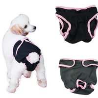 Pet Dog Puppy Washable Cotton Sanitary Physiological Menstrual Panties Underwear Diaper Pant - Size XS (Black) Apparel