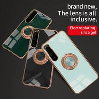 For Sony cases Xperia1 iii Xperia10 Xperia5 360 ring magnetic kickstand shockproof anti knock TPU soft bumper cover magnetc suction rings luxury designer case