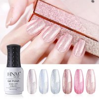 Nail Art Kits HNM Brilhante Pérola Cores Gel Polonês Set 6 pcs Soak Off Primer UV UV LED Salão Manicure 8ml