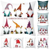 Christmas Decorations Pillow Case 45x45cm Faceless Gnome Cushion Cover For Home Noel Natal Navidad 2021 Year 2022