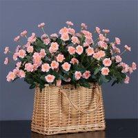 """Декоративные цветы венки 7 шт. Поддельные Мини Роуз 14.17 """"Длина симуляции роза для свадьбы дома искусственные 7 цветов доступны"""