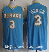 Basketbol Formaları Vintage Mens Julius Erving 6 NCAA Koleji Allen Iverson 3 Ucuz Wilt Chamberlain 13 Dikişli Gömlek