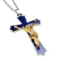 예수님 십자가 펜던트 따뜻한 기분 변화 목걸이 스테인레스 스틸 체인 쥬얼리