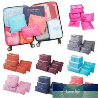 6 قطعة السفر حقيبة تخزين حقيبة الأمتعة المنظم مجموعة حقيبة للملابس داخلية الجوارب أحذية تخزين حقيبة التعبئة مكعبات المنزلية