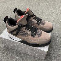 4 Taupe Haze Shoes para hombre Mocha Black Brown Basketball Shoe Jumpan 4S TS White Oreo Sneakers Mujer entrenador Deportes Universidad Azul