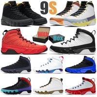 9 9 s Spor Salonu Kırmızı Erkekler Basketbol Ayakkabı Racer Mavi Narenciye UNC heykeli erkek eğitmenler spor sneakers boyutu 7-13