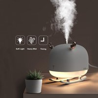 Humidifiers 260ML Ultrasonic Air Humidifier Home Car Essential Oil Diffuser USB Nebulizer With LED Night Lamp