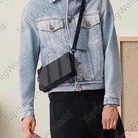 Bolsas dos homens Square Box Bag Marca de couro Messenger Ombro Bag 671 Moda Luxurys Designers Sacos Carteira Crossbody Cintura Pacote Tamanho 22x14x5cm