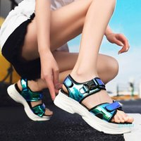Hot Sales-Dress Shoes Sexy Open-toed Women Sport Sandals Wedge Hollow Out Outdoor Cool Platform Beach Summer 2021