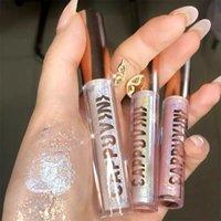 Flüssig Lidschatten Helle Highligh Diamant Lidschatten Metall Glow Glitter Einzelne Make-up Pigment