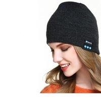 Bluetooth fone de ouvido sem fio esporte música chapéu inteligente beanie tampão inverno com alto-falante