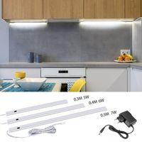 Hand Sweep Switch LED Under Cabinet Kitchen Light Bedroom Wardrobe Closet Night Lights 30 40 50cm Bar Indoor Home Lamp