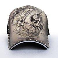 Бейсболка мужская татуировка дракона шляпа шляпа дракона летние улицы оригинальной иллюстрации напечатаны китайский ветер тени отходы их профилактики
