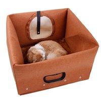 Multifunzione Pet letto Pet Felt Cucciolo di cane Cat Bag Sleeping Panno Inverno Casa Calda Casa Portatile Portable Portable Authory Letti Mobili
