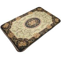 Carpets Rustic Classic Flower Carpet Non-Slip Entrance Door Floor Mat Absorbent Bath Kitchen Rug Welcome Mats