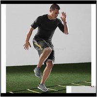 Équipement de plein air Fournitures à l'extérieur Sports Sports Durable 8Rung 4m Échelle d'agilité pour la vitesse Football Football Fitness Pieds Drop D