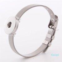Paslanmaz Çelik Noosa Bilezik Yüksek Kalite DIY Zencefil Yapış Düğmesi Ayarlanabilir Bilezikler Fit 18mm Snap Düğmesi Charms Takı B104