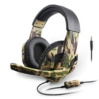 Camouflage Stereo Deep Bass with Microphone PS4   PS3   For Computer Switch Game Player Headphones with Retail Box