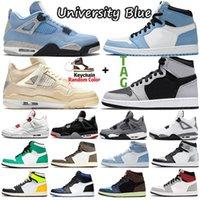 Jumpman Retro 4 Sail 4s University Blue 1 1s sneakers Outdoor Sports Shoes Hyper Royal Shadow 2 Silver Toe Tie Dye Twist women mens trainers