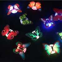 20PCS LED 3D Butterfly Wall Stickers Night Light Lamp Glowing Wall Decals Stickers House Decoration Home Party Desk Decor 1950 V2