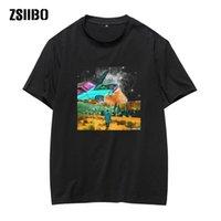 Starry sky t shirt The Space punk of English Bulldog T-shirt For Man off white TShirtS women summer plus size tshirt top