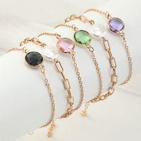 3SET /たくさんのレトロファッションエレガンス宝石チャームブレスレットパールマルチカラー3ピース水晶のブレスレットセットヨーロピアンスタイルのジュエリー