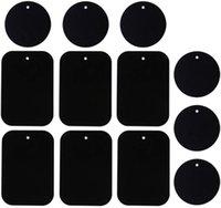 لوحة معدنية عالمية 12 حزمة للهاتف المغناطيسي سيارة جبل حامل مهد مع 3M لاصق (يتصاعد متوافق) حاملي الخلية