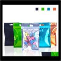 Ambalaj 8513 cm tek tarafı açık renkli kapatılabilir zip mylar alüminyum folyo çanta koku geçirmez poşetler takı çantası w42ot cdnf7