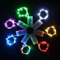 1 2 3 5M 버튼 배터리 구리 와이어 다채로운 LED 문자열 10 20 30 50 램프 구슬 실내 크리스마스에 대 한 휴일 빛 크리스마스 발렌타인 데이 무대 조명 요정 조명 선물로