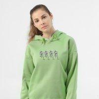 Hooded Hoodies Sweatshirt Harajuku Fashion Unisex Women Gothic Sweatshirtswomen Skeleton Printed Punk Women Sweetshirts Big Size