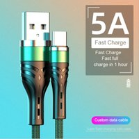 5A Charger Cable For Samsung S20 S10 Fast Charging Charger Mirco USB Type C Data Cable Wire Cord