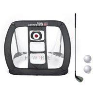 Golf Training Aids Indoor Outdoor 81 * 74 52cm Practice Net Easy Metal + Storage Bag Gift For Kids