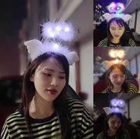 천사 날개 깃털 머리띠 무대 축제 머리 장식 요정 LED 가벼운 머리 버클 어린이 장난감