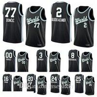 En Kaliteli Dünya Takımı RJ Barrett Rui Hachimura Luka Doncic Shai Gilgeous-Alexander 2020 Yükselen Yıldız Basketbol Forması