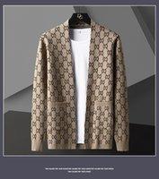 럭셔리 편지 인쇄 카디건 자켓 남자 디자이너 브랜드 패션 포켓 니트 카디 건 스웨터 코트 남자 2021 캐주얼 스웨터