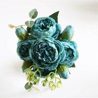 5 hoofden kunstmatige zijde rose bloem bos planten boeket nep huis bruiloft decoratie tuin bloemen kantoor slaapkamer partij 610 s2