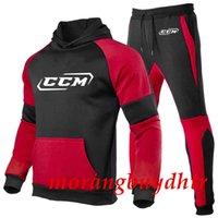 2021 Ccm Autumn Winter Packwork Print Sweatshirt Pants Sets Sport Suit Tracksuit Men Comfortable Designer Topsy94t