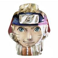 2020 Sonbahar ve Kış Yeni Erkek Anime Rahat Kazaklar Satış Modern Trend 3D Baskılı Naruto Kazak Hoodies Erkekler