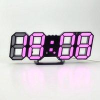 Déce GardenModern Design 3d LED Relógio de Parede Moderno Despertador Digital Exposição Home Sala de Estar Escritório Mesa De Mesa SQCPTG CLIPPERSCOP