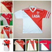 Retro Monaco Futbol Forması 82 90 91 92 94 95 96 97 Tuybens Dalger Vintage Ben Yedder Jovetic Golovin Hinesi Jorge Futbol Gömlek