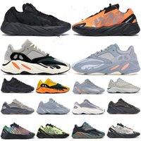 Novo 700 V2 Corredor Sólido Sólido Gray Inércia MNVN Laranja Fósforo Homens Mulheres Correndo Sapatos Analógicos Azul Carbono Treinadores Estáticos Esportivos Sapatilhas