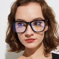 Occhiali da vista da donna con telaio Blue Light Blocking 2021 Trends Cat Eye Eye Cronommed Glasses Clear Square Geek Black Moda Occhiali da sole Cornici