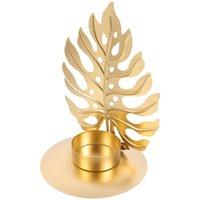 Свечи творческие листья формы свеча держатель железа палочка настольный подсвечник орнамент
