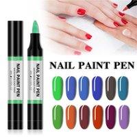 Nail Polish 24Color Point Flower Pen Gel Varnish Glitter 3 In 1 Art Color Hybrid Easy To Use UV Paint Glue