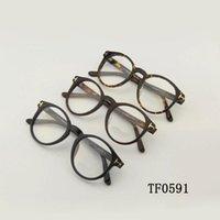 Fashion Sunglasses Frames Original Tom Brand Optical Eyeglasses Frame Forde Round Acetate Women Men Reading Myopia Prescription TF0591