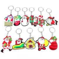 Schlüsselanhänger Anhänger Dekompression Spielzeug Charge Weichkleber Santa Claus Schneemann Weihnachtsgeschenk Jubiläum Tiktok DHL FAST C2991
