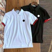 Tasarımcı Monklair erkek Polos Lüks Mektup Nakış Erkek Kadınlar Polo Gömlek Moda Çift Boncuk Marka Butik Katı Renk En Kısa Tees 003