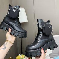 نساء مصمم أورست أحذية الكاحل نايلون جيب أسود التمهيد مارتن الشتاء أحذية سوليد سميكة ارتداء مقاومة المطاط عالية أعلى منصة الأحذية